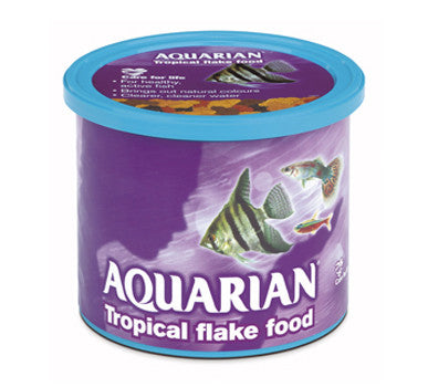 AQUARIAN TROPICAL FISH FOOD 200GM