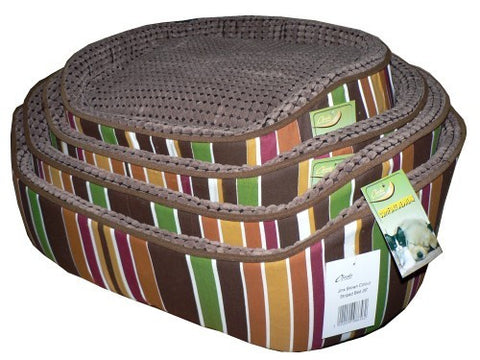CHEEKO JINX BROWN STRIPED BED 26""
