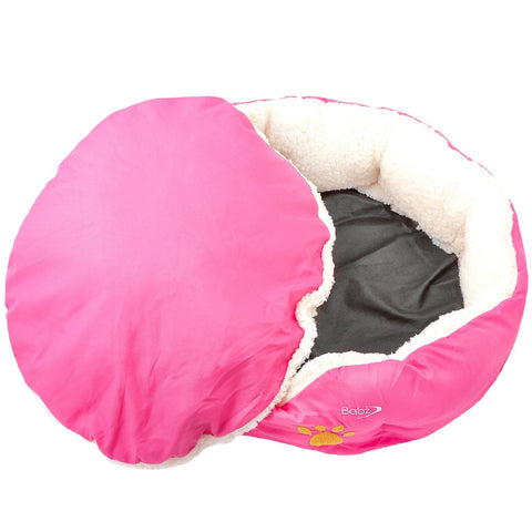 Babz Soft Comfy Fabric Washable Pet Bed with Fleece Lining