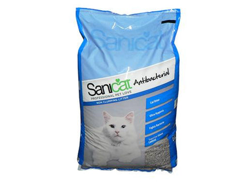 SANICAT ANTIBACTERIAL CAT LITTER 25LT
