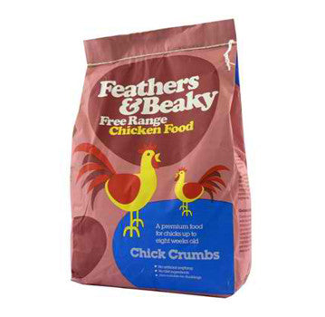 FEATHERS & BEAKY FREE RANGE CHICK CRUMBS 4KG