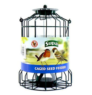 SUPA WILD BIRD CAGED SEED FEEDERS
