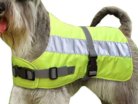 "FLECTALON DOG JACKET HI-VIZ 10"" YELLOW"