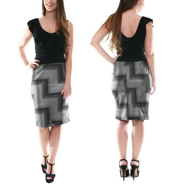 gray pencil skirt for tango dance