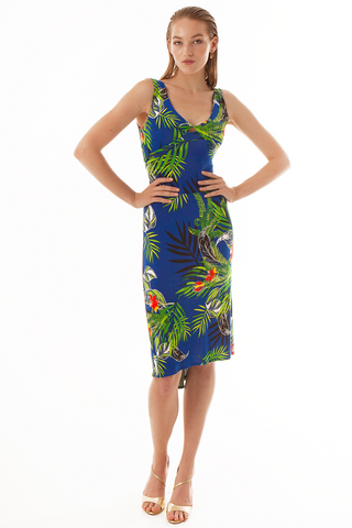 Floral Tango Dress With Crisscross Back