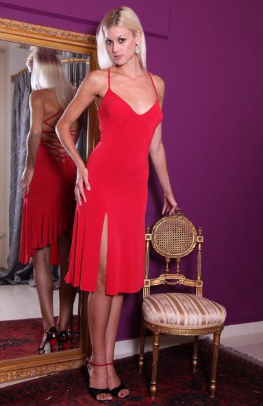 red tango dress by conDiva