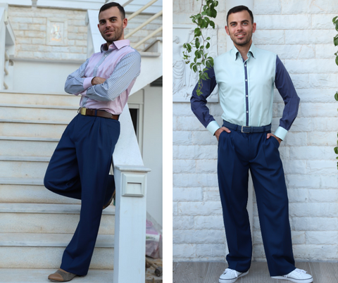 Blue Men's Tango Pants