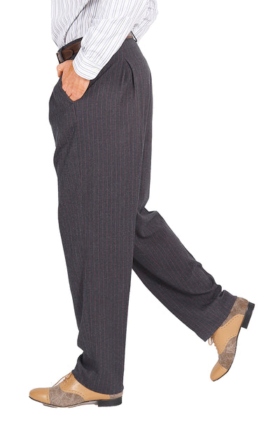 conSignore Men's Striped Gray Tango Pants