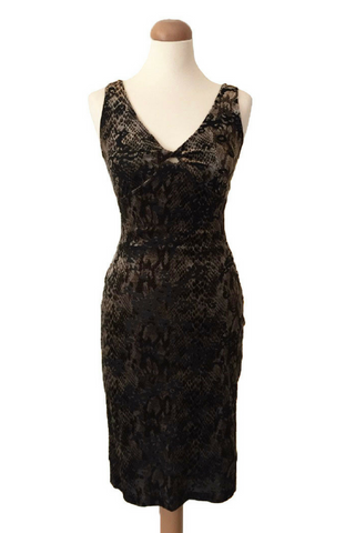 Velvet Tango Dress with Crisscross Back