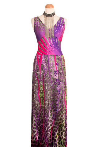 Multicolor Maxi Dress - One Of A Kind
