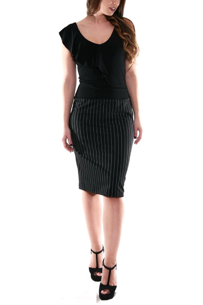 Dark gray pencil skirt