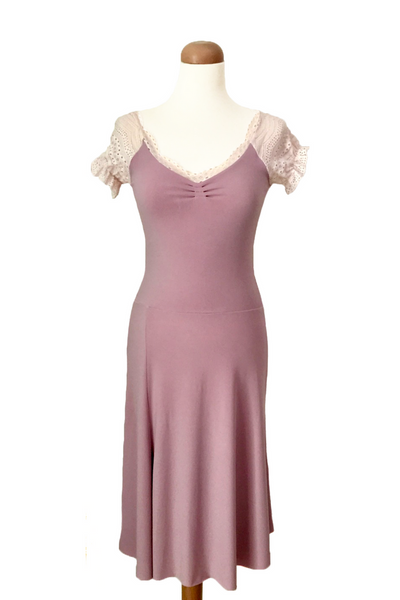 Light Pink Tango Dress with Long Tail