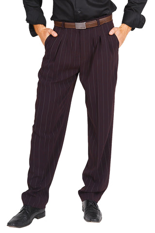 conSignore Men's Striped Eggplant Tango Pants