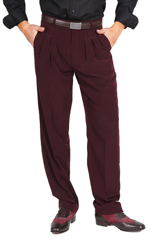 conSignore Men's Burgundy Tango Pants