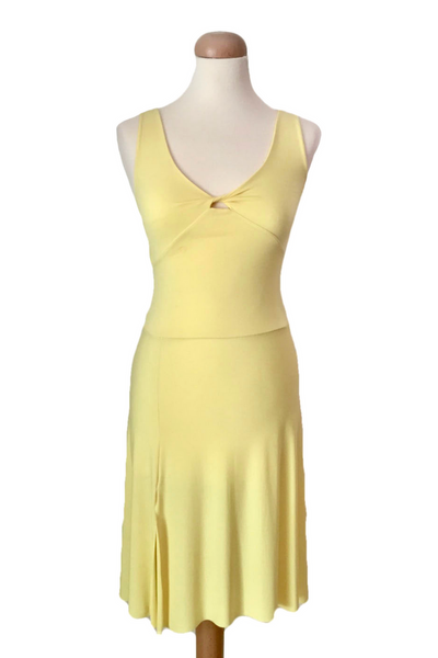 Crisscross Tango Dress with Back Draping
