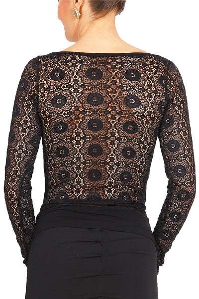 Tango Top With Lace Back And Long Sleeves