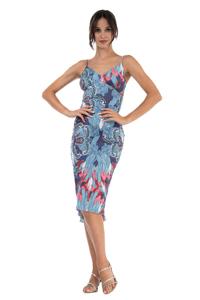 Velvet Tango Dress With Snake Animal Print