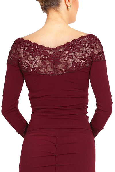 Tango Top With Lace Décolletage