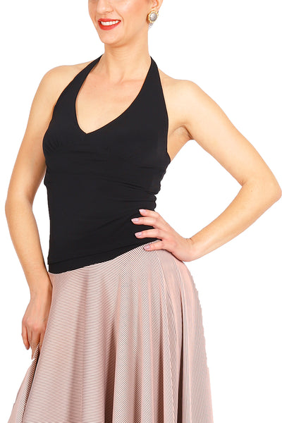 Tango Top with Halter-neck Tie