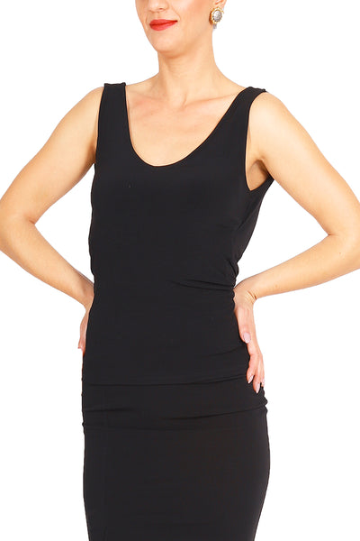 Tango Top With Back Draping and Strap