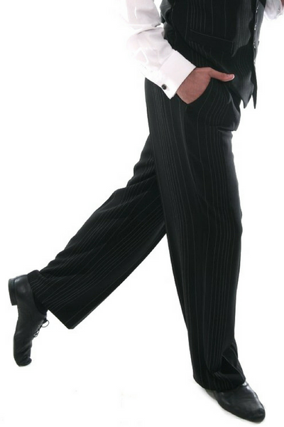 men's black tango pants