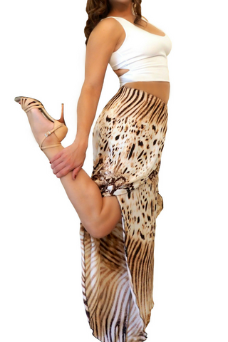 Silk touch wrap women's tango pants