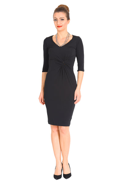 Elegant Twist Knot Dress