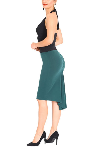Petrol Blue Fishtail Tango Skirt