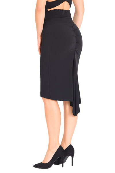 Black Fishtail Tango Skirt