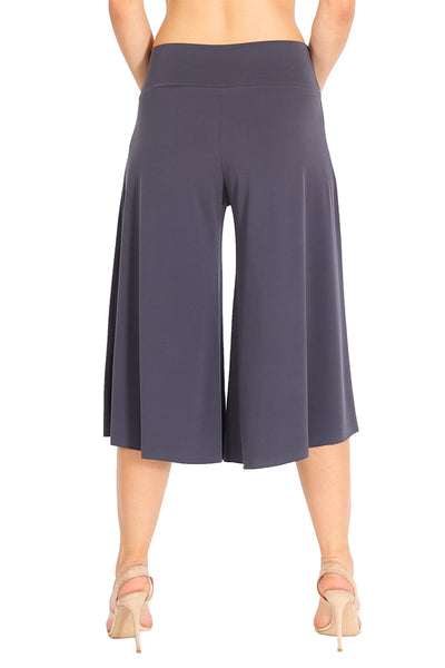 Gray Cropped Culottes