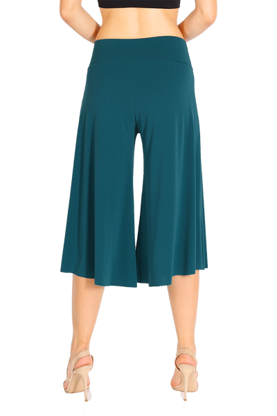 Petrol Blue Cropped Culottes