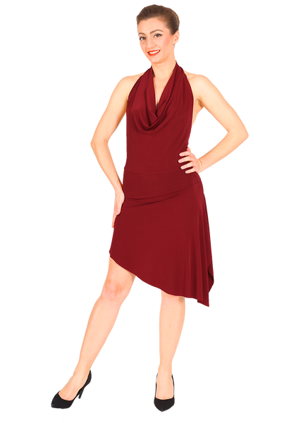 Burgundy Mini Dance Dress