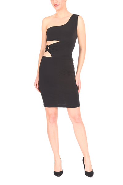 One-shoulder Tango Dress With Cutouts
