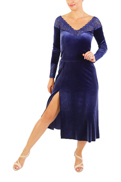 Blue Velvet Tango Dress