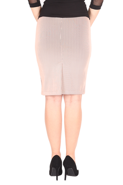 Stretch Pencil Skirt - nude pink