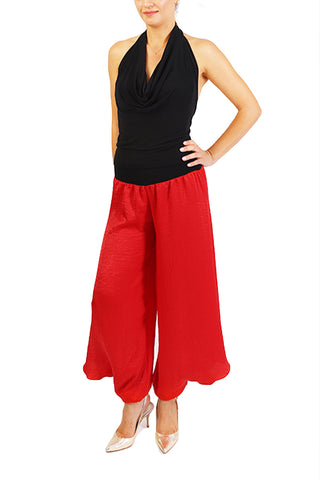 Red Satin Tango Pants