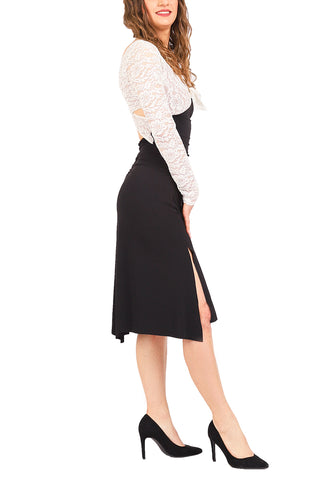 Long-sleeve Tango Dress with Crisscross Back