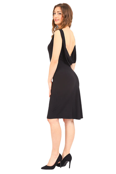 Elegant Tango Dress With Draped Back