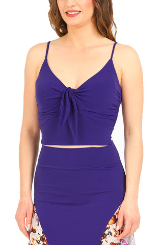 Tango Top With Front Knot - purple
