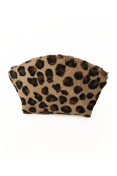 Leopard Pony Fur Coin Purse