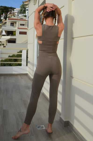 Elephant Grey Fitness Leggings