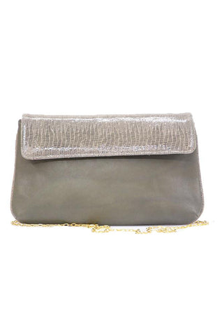 Olive Green Snake-print Shoulder Bag