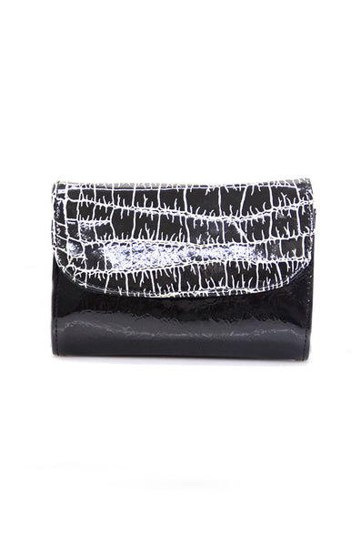 conDiva Small Black Patent Leather Purse