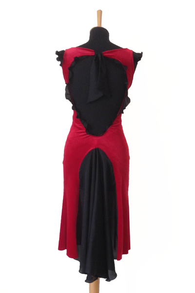Red Velvet Argentine Tango Dress