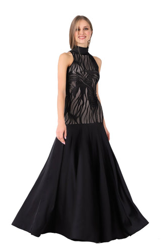 High-necked Formal Gown