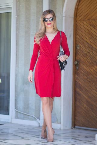 Red Tango Wrap Dress