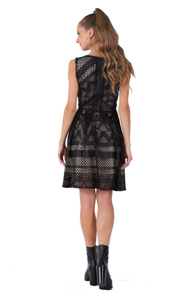 Thick Lace Black Casual Dress