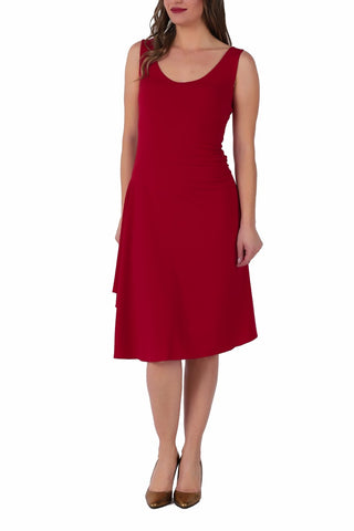 Red Tango Dress With Right Side Draping (M)