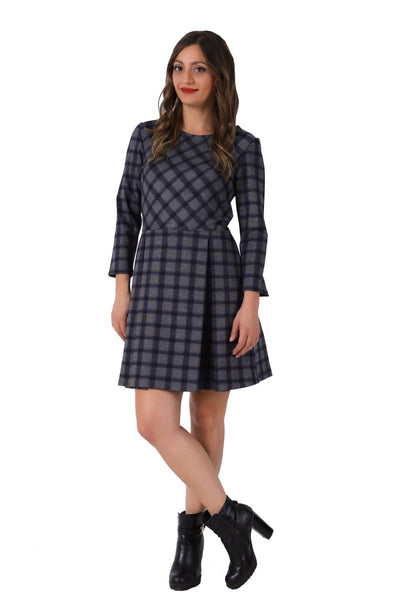 Plaid Pattern Casual Dress