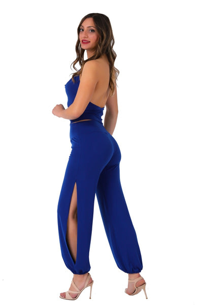 Gathered Tango Pants - electric blue